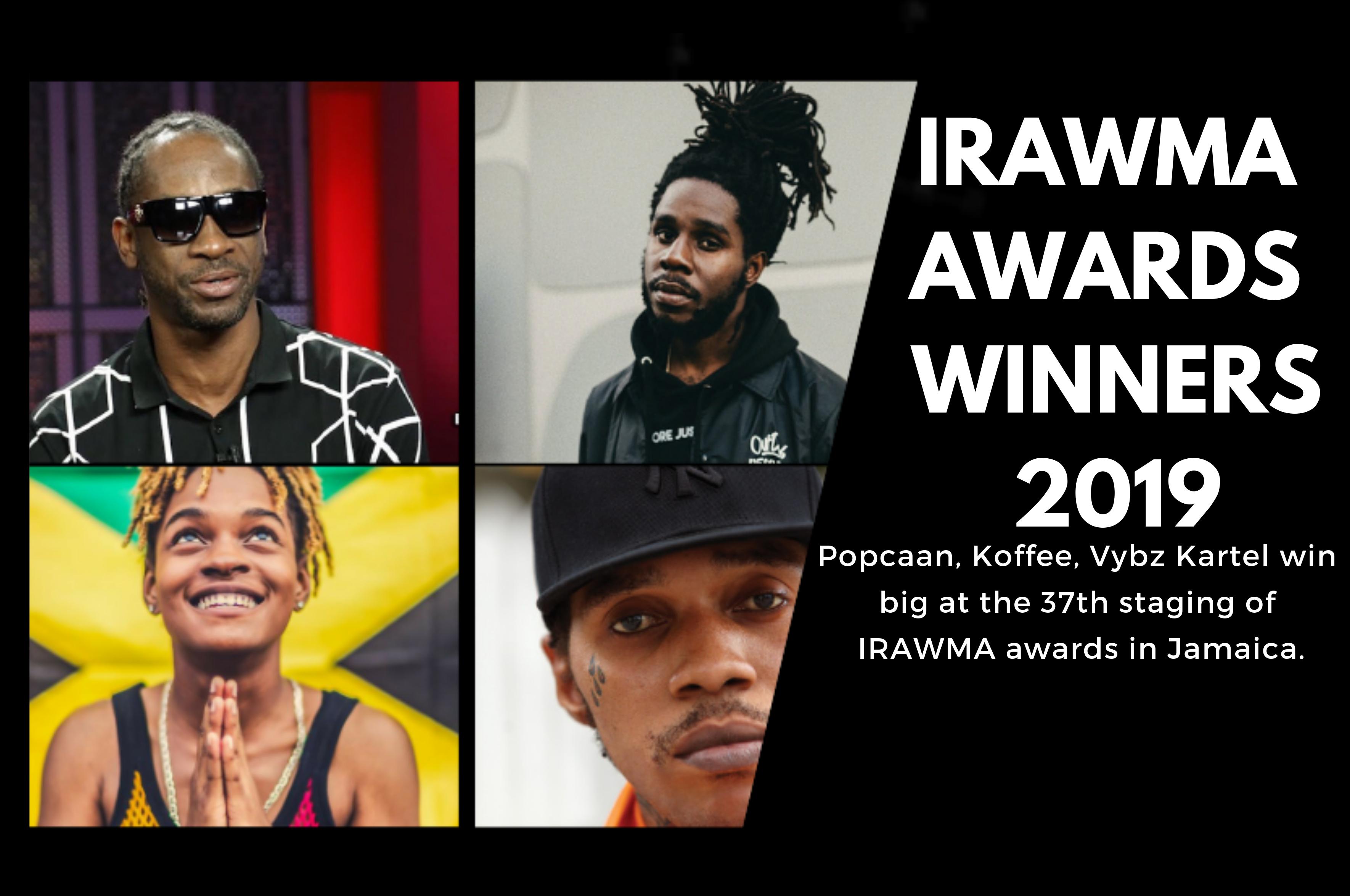 IRAWMA 2019: Koffee, Spice, Chronixx & Popcaan Among the Big Winners